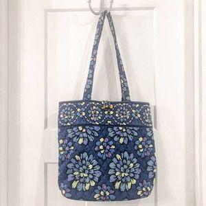 Vera Bradley Tote / Book Bag Blue Indigo Pop